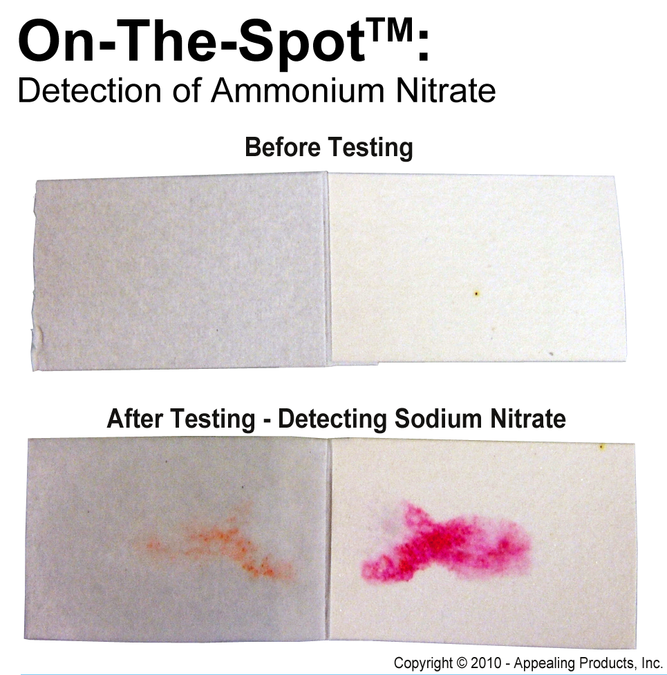 Detection of Ammonium Nitrate using the On-The-Spot | ChemSee.com
